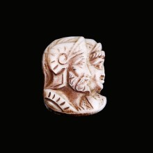 Exquisite White Coral Cameo of Mars and Venus