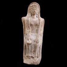 Greco-Roman Enthroned Female Terracotta Figure