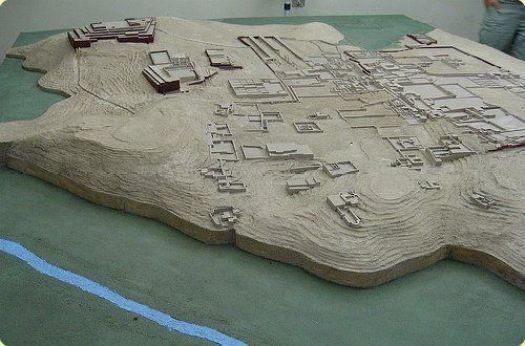 Reconstrucción del Complejo Arqueológico de Pachacamac. Crédito de la imagen: http://www.limaeasy.com/
