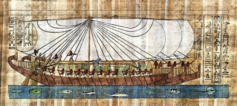 Kemet Boat with Sails