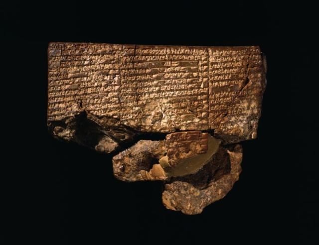 This ancient clay tablet from ancient Nippur is the only surviving document of the Sumerian flood story.