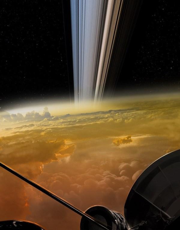 Closest Saturn Cassini Photos