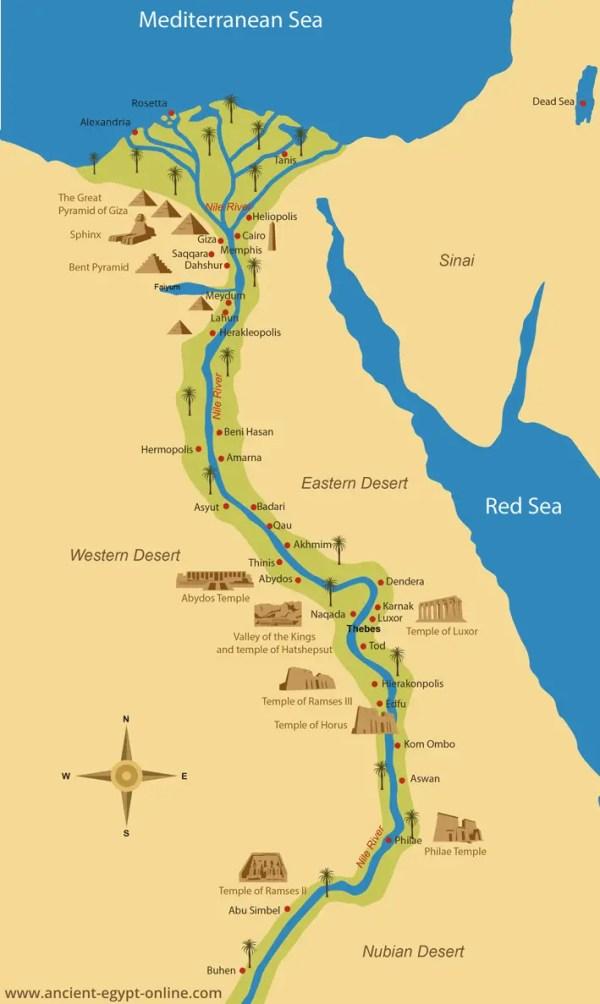 Ancient Egypt Maps
