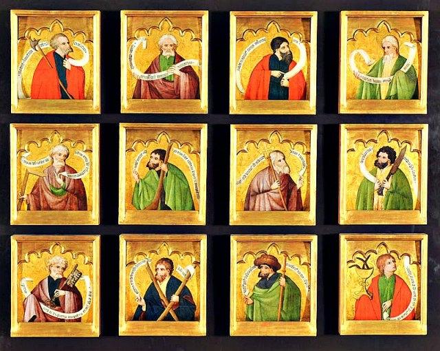 Los Doce Apóstoles de Jesús de Nazaret, obra de Nicolás Francés (1434/1468). Museo de Santa Cruz, Toledo. (Public Domain)