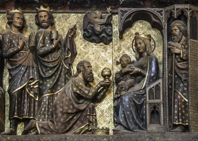 La adoración de los Magos tuvo lugar tras seguir los tres sabios de Oriente a una estrella que les guió hasta Belén. (Fr Lawrence Lew, O.P., CC BY-NC-ND)