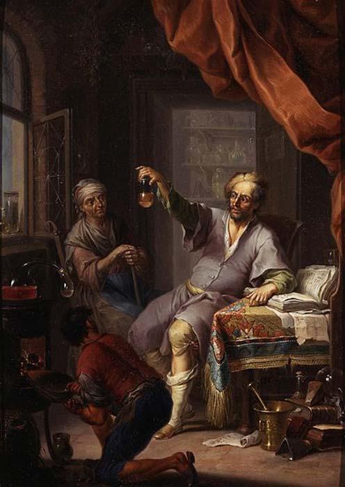 'El alquimista médico', óleo de Franz Cristoph Janneck. (Dominio público)