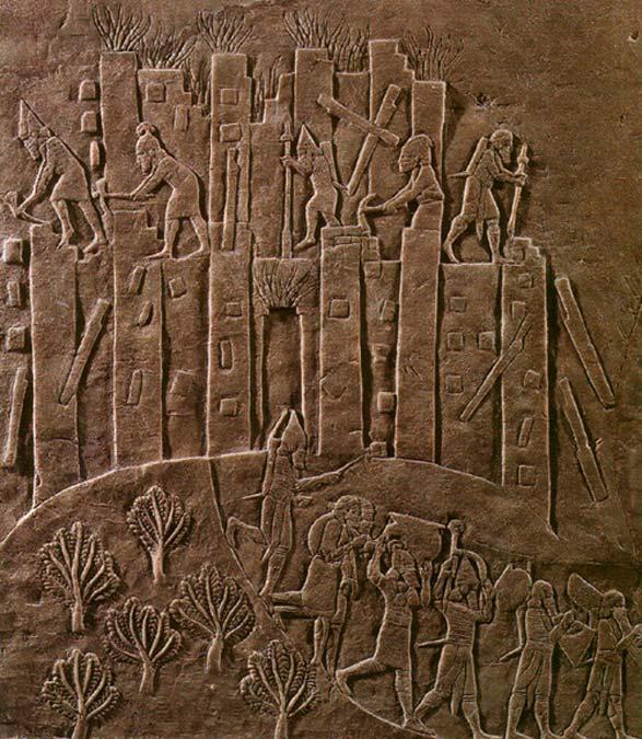 En este relieve aparece ilustrada la brutal campaña de Asurbanipal contra Elam del año 647 a. C. (CC BY-SA 3.0)