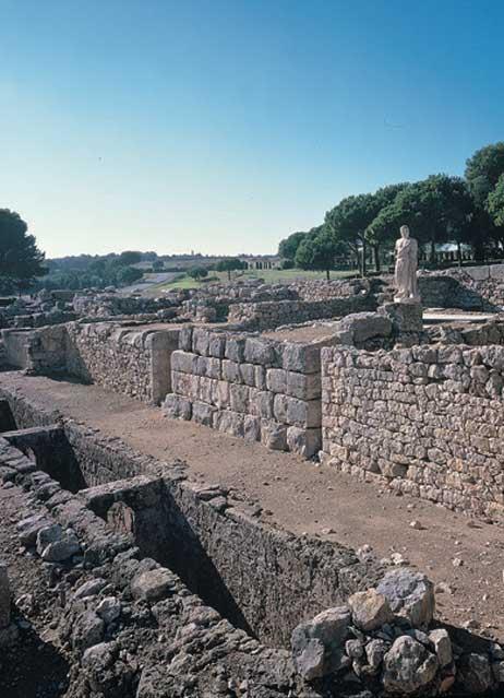 Centro religioso y terapéutico consagrado al dios griego de la medicina, Asclepio, en Ampurias. (Museu d'Arqueologia de Catalunya)