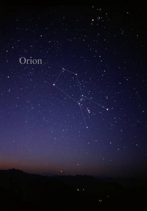 La constelación de Orión a simple vista (CC BY-SA 3.0)
