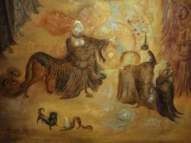 'Crisopea de María la Judía'(1964), óleo de Leonora Carrington. (CC BY NC 2.0)