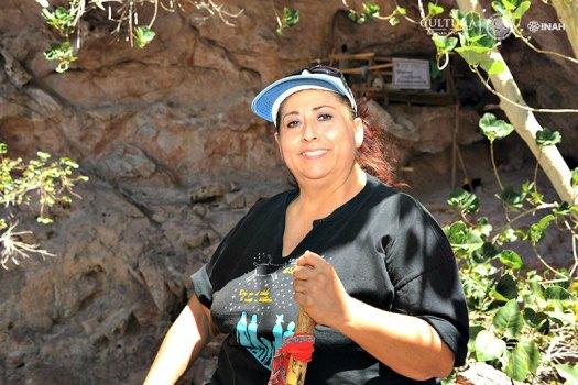 Eréndira Contreras Barragán, directora de las excavaciones arqueológicas en La Pintada. (Fotografía: Mauricio Marat/INAH)