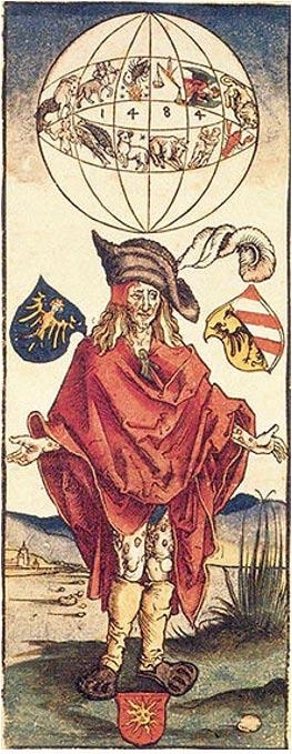 Ilustración médica atribuida a Alberto Durero (1496) en la que aparece dibujado un enfermo de sífilis. En este caso, la enfermedad se achaca a razones astrológicas. (Public Domain)