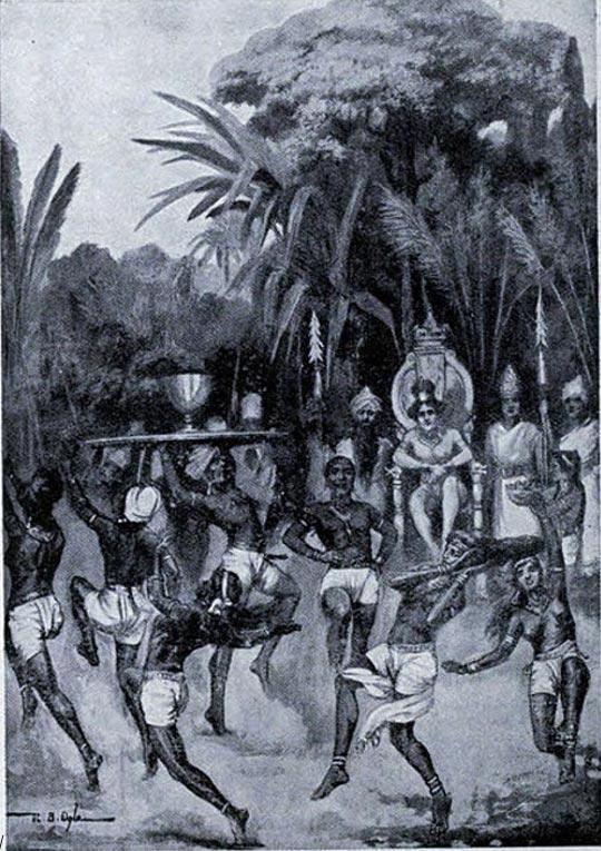 El enviado de Ashoka declara la paz. Ilustración de la 'Historia de las Naciones' de Hutchinson. (Public Domain)
