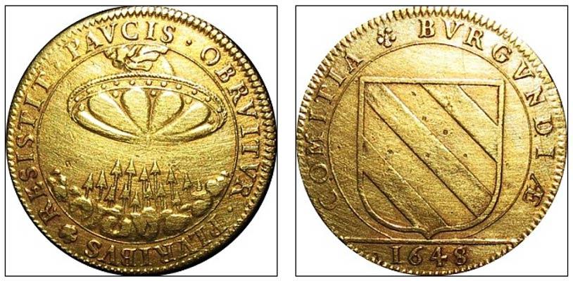 En esta ficha de 1648 aparece también un extraño objeto circular en el cielo. (Daily Mail )