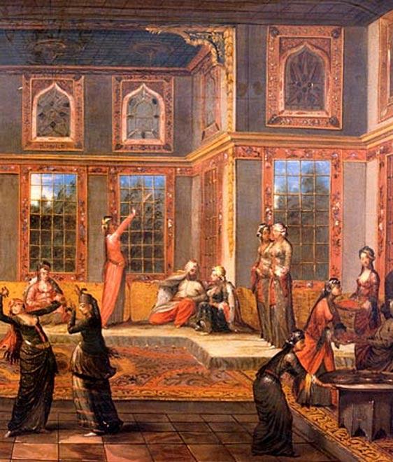Escena imaginaria del harén del sultán. (Public Domain)