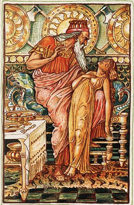 La hija de Midas convertida en oro. (Dominio público)