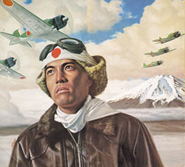 Piloto kamikaze japonés.