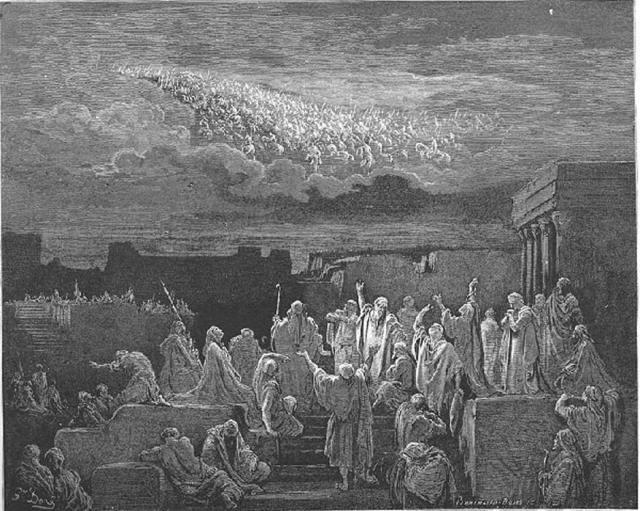 Legiones celestiales, grabado de Gustave Doré (Dominio público)