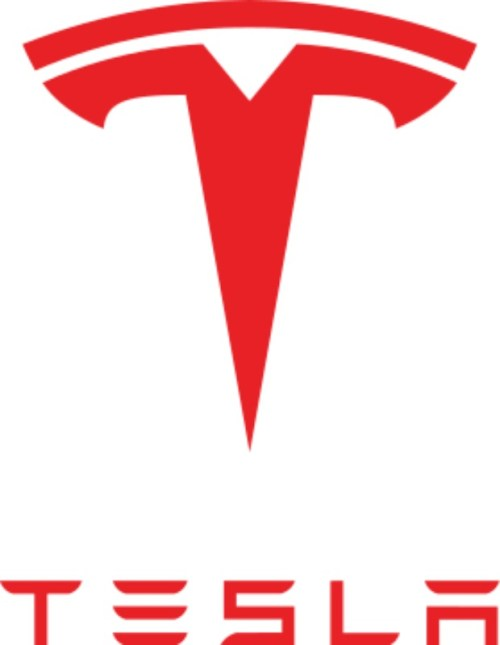 Logo de la compañía de tecnología y fabricación de automóviles Tesla Motors, llamada así en honor a Nikola Tesla. (Dominio público)