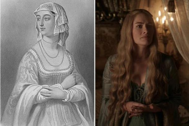 Margarita de Anjou (Wikimedia Commons)-Cersei Lannister (EyesOnFire89/Flickr)