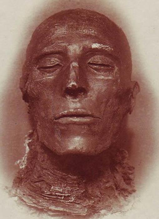 El rostro de la momia de Seti I. (Public Domain)