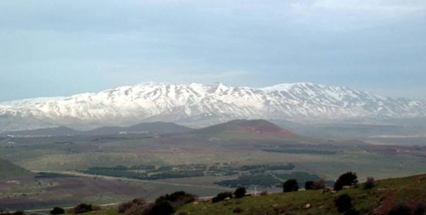 El monte Hermón cubierto de nieve. (Dominio público)