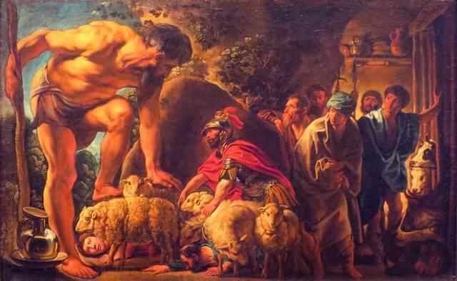 'Odiseo en la cueva de Polifemo', óleo de Jacob Jordaens. (Public Domain)