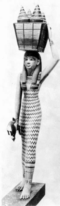 Mujer egipcia transportando mercancías. Figurita de una ofrenda de la Dinastía XI. (Titi Sitria/CC BY SA 3.0)