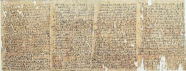 Pasajes del Papiro Westcar (Public Domain)
