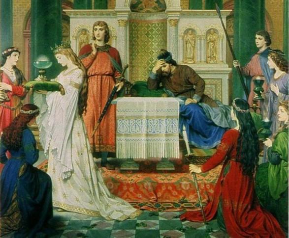 'Perceval y la doncella del Grial', obra del pintor alemán del siglo XIX Ferdinand Piloty. (Revista Eco)