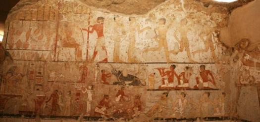 Las imágenes y los colores de los murales se han conservado muy bien a pesar de su antigüedad. (Ministerio de Antigüedades de Egipto)