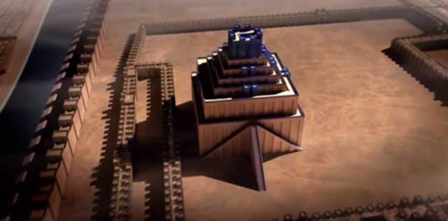 Reconstrucción de la Torre de Babel. Captura de un vídeo de la Institución Smithsoniana