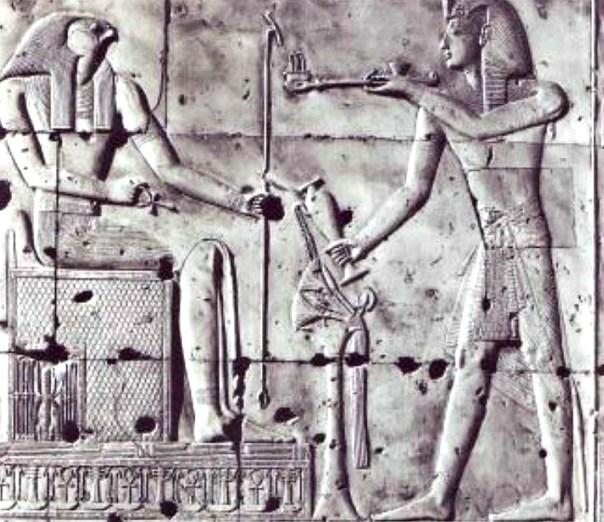 Detalle del relieve del templo de Seti I, faraón de la dinastía XIX, en Abidos, Egipto. (Fotografía: La Gran Época)
