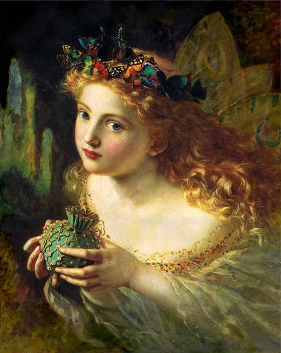 Retrato de un hada, obra de Sophie Gengembre Anderson (1869). (Public Domain)