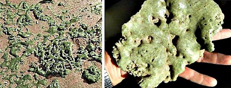 Las rocas se derritieron al alcanzarse temperaturas de alrededor de 1.500 grados centígrados. (Imágenes: La Gran Época)