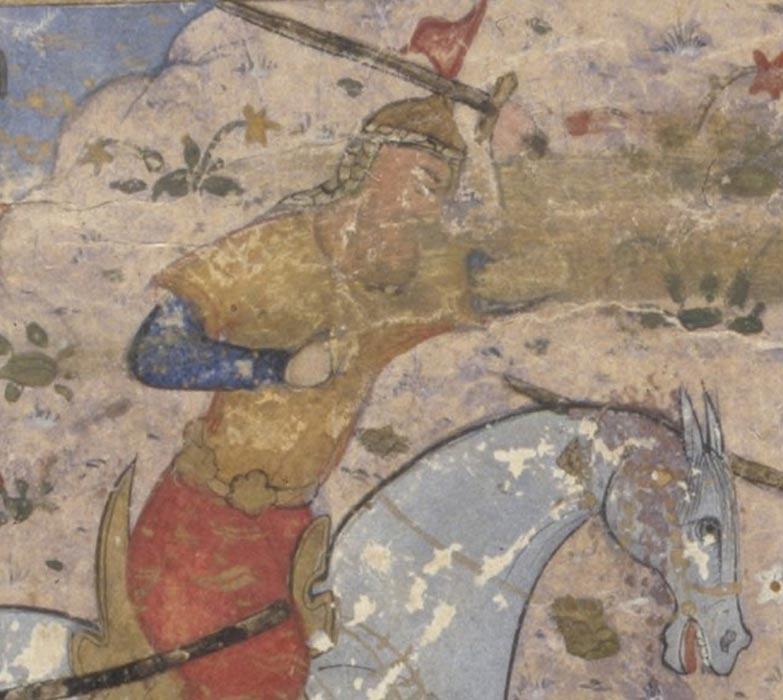 Rostam Farrokhzad en una ilustración del Shahnameh. (Public Domain)