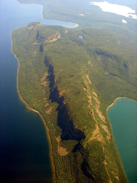 Vista aérea de Sleeping Giant (el 'Gigante Durmiente') (CC BY-SA 3.0)