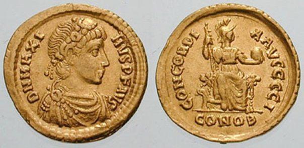 Sólido con la efigie de Magno Máximo. (Panairjdde/Classical Numismatic Group/CC BY-SA 3.0)