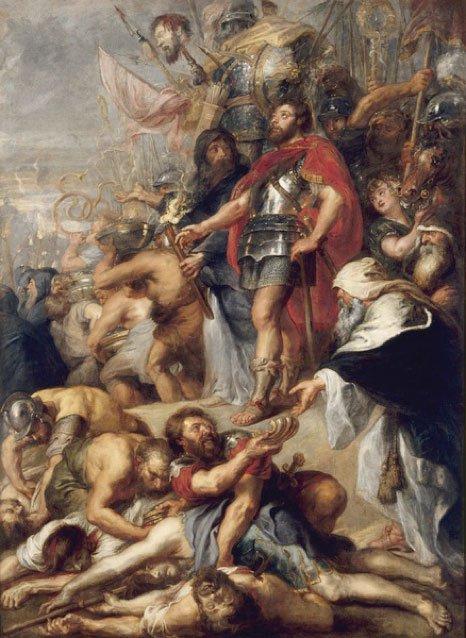 'El triunfo de Judas Macabeo', óleo de Rubens. (Dominio público)