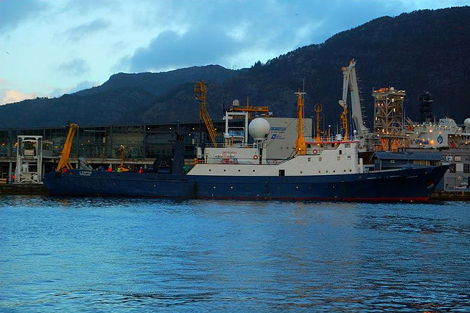 El barco de investigación L'Espoir atracado en Bergen (Noruega). (Sveter/ CC BY SA 3.0)