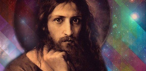 Portada - Contemplando a los dioses entre las estrellas. Retrato de Jesucristo y cielo estrellado (Dominio público)