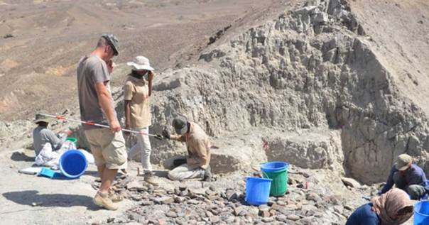 """Los investigadores encontraron la colección de herramientas de piedra en escamas """"Oldowan"""" en la región de Afar, en el noreste de Etiopía. Fuente: Erin DiMaggio."""