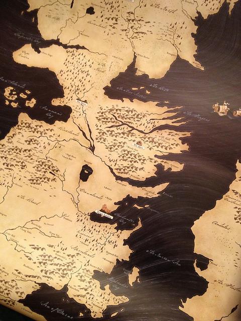 Mapa de los Continentes – Juego de Tronos (Alan Parkinson/Flickr)