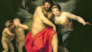 Zeus y Hera en el Monte Ida. Óleo de Andries Cornelis Lens. (Wikipedia Commons)