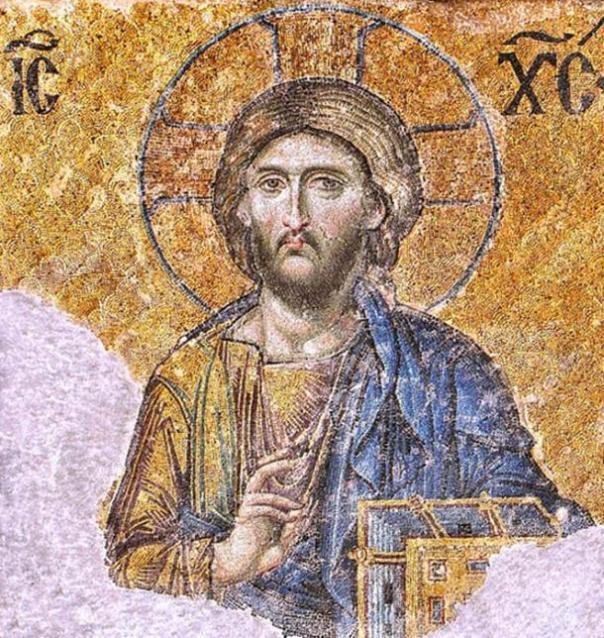 Iglesia ortodoxa griega - Mosaico de Cristo Pantocrátor /