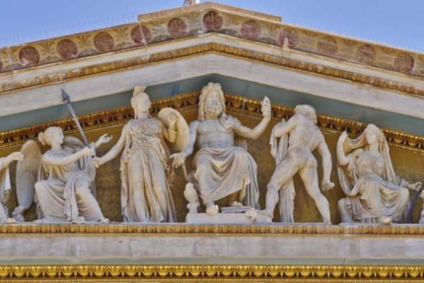 Zeus, Atenea y otros dioses y deidades griegos antiguos, Atenas. (Dimitrios / Adobe)