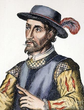 Un 17 ° secolo incisione spagnolo Juan Ponce de León