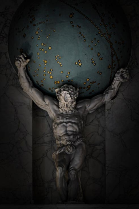 Modern interpretations often show Atlas carrying the earth, but in ancient understanding it was the heavens he held aloft, carrying the burden for eternity.
