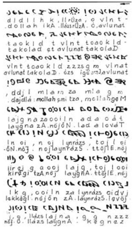 Part of Attila Nyiri's attempt to decipher the Rohonc Codex