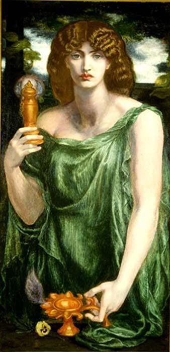 raffigurazione di Dante Gabriel Rossetti di Mnemosyne.